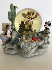 Vintage Disney Mickey Home On The Range SnowGlobe - Lights Up, Music, Animated