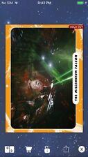 Topps Star Wars Digital Card Trader Orange Movie Photo Millennium Falcon Insert