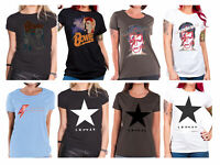 David Bowie T Shirt womens official blackstar Aladdin Sane new Skinny Fit