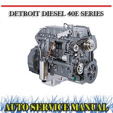 DETROIT DIESEL 40E SERIES 40 E ENGINE WORKSHOP SERVICE REPAIR MANUAL ~ DVD