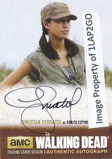 Walking Dead Season 4 Part 2 CS1 Christian Serratos Rosita Autograph Auto D