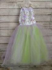 Ballet  Costume White Purple Swan Lake Dance TUTU Skirt Dress Childs Size L