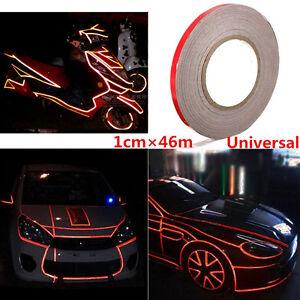 Reflective Sticker Tape SUV Car Body Trim Stripe Decal Self Adhesive 1cm*150feet