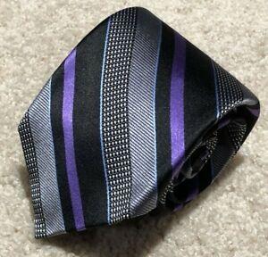 NWOT Robert Talbott Best of Class Silk Necktie Nordstrom Silver Purple Black NR