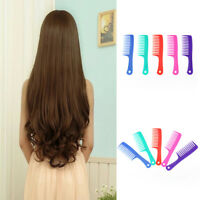 1 PC Wet Haircut Hair Comb Hairdressing Plastic Detangler Handle Wide-tooth Comb