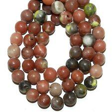 "GR746f Pink Lepidolite 6mm Round Natural Gemstone Beads 16"""