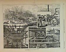 Montreal Canada, Craig St. Tunnel, Transportation, Vintage 1876 Antique Print