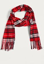 Urban Outfitters Scarf Red Tartan Plaid Check Soft brand new bnwt