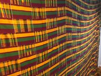 Vintage large African kente Ashanti hand woven cloth