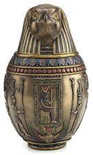 Egyptian Horus Canopic Jar Pet Burial Urn Falcon Statue Sculpture Figure