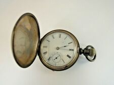 Heavy Waltham Hunting Pocket Watch Vintage Coin Silver & Sterling