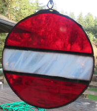 Stained glass Christmas ornament sun catcher handmade FREE shipping to U.S. NEW