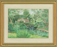 J.M. Edwards - Signed and Framed 20th Century Watercolour, River Cottage