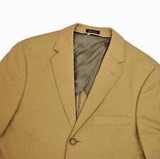 J Crew Cotton Khaki Jacket 38R Small Beige Tan Blazer Sport Coat Excellent!