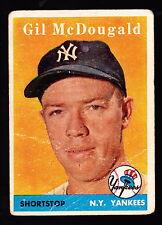 1958 TOPPS #20 GIL McDOUGALD YANKEES