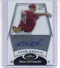 2007 Ross Detwiler Topps Finest Autographed Rookie Card