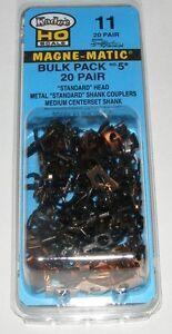 Kadee HO scale # 11 ~  Bulk Pack # 5 x 20 pair Magne-matic Couplers ~ New