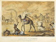 PLAQUE ALU REPRODUISANT UNE AFFICHE ROBERTS FRANCIS LYON DESERT TEMPETE AFRIQUE