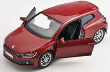 BLITZ VERSAND VW Scirocco weinrot Welly Modell Auto 1:34 ca.12cm NEU & OVP