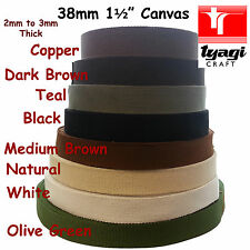 "Canvas 38mm Wide 1.5"" Inch Bag Cotton Strap Belt Webbing Thick Fabric Handle"