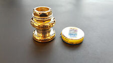 NEW CAMPAGNOLO SUPER RECORD HEAD SET ITALIAN 25.4X24 GOLD ORO 30TH 50TH LOVERS