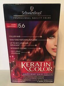 NEW Schwarzkopf Keratin Hair Color Warm Mahogany 5.6 Anti-Aging