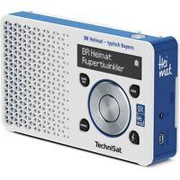 TechniSat DigitRadio 1 BR Heimat Edition UKW/DAB+ Akku/Netzteil weiß/blau