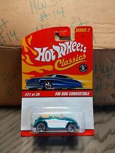 Hot Wheels Classics Green VW Bug Convertible #21/30 Series 2 special paint