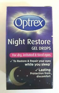 Optrex Night Restore Gel Eye Drops - 10ml For Dry, Irritated & Tired Eyes