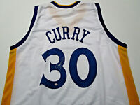 STEPHEN CURRY / AUTOGRAPHED GOLDEN STATE WARRIORS WHITE CUSTOM JERSEY / COA