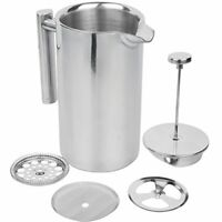 Stainless Steel French Press Coffee Maker, 34oz, Double Wall Insulated Espresso