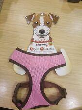 Elite Pet Pink/Brown MEDIUM Style Dog Harness Free Shipping