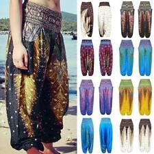 women Men Harem Trousers Loose Yoga Pants Baggy Hippy Palazoo Boho Alibaba Thai