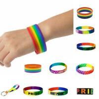 Mode ARMBÄNDER Gay Pride Regenbogen Unisex Armband Schmuck Lesben Trans B2Y N4P3