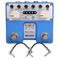 Mooer Reverie Chorus Twin Series Digital Chorus Guitar Effects Pedal w/ Cables