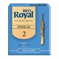 NEW RICO Royal Soprano Sax Reeds Strength 2 - 10 Reed Pack