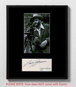 Ansel Adams Matted Autograph & Photograph! Photography! Yosemite! Art Icon! Rare