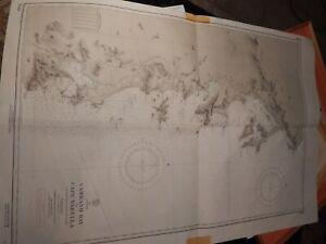 US NAVAL Nautical Chart, SOUTH CHINA SEA,VIETNAM, CAMRANH BAY 1965