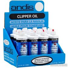 (12x) ANDIS CLIPPER TRIMMER Lubricant OIL 4 oz. Protects Clean Blade Case