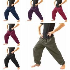 Men's Loose Casual Harem Pants Hippie Yoga Wide Leg Drawstring Leisure Trousers