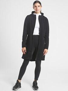 ATHLETA Cozy Karma Jacket  M Medium   Black Cozy CYA Hooded Coat #631309 NEW