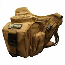 Men's Tactical Daddy Diaper Bag - Tan - With Blow Out / Biohazard Morale Patch