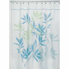 Modern Elegant Leaves Bathroom Fabric Shower Curtain 72 x 72 Machine Washable