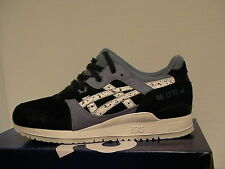 Asics running shoes gel-lyte iii size 10.5 us men indian ink/white new with box