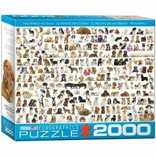 EUC, Eurographics WORLD OF DOGS Puppies Non-Toxic Recyclable Jigsaw Puzzle, 2000