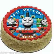 Cake topper edible image icing Thomas the tank engine birthday  REAL FONDANT