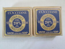 2 L'Occitane ~SWEET LEMON~ Extra Gentle Soaps with20% Shea Butter 100g/3.5 oz.