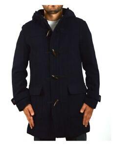 SELECTED HOMME montgomery cappotto uomo lana blu scuro