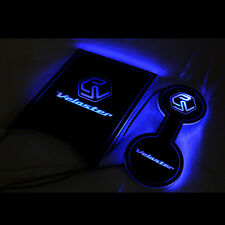 LED Cup holder inside Console Plate Blue For Hyundai Veloster / Turbo 2012~2016+