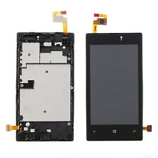 Fr Nokia Lumia 520 LCD Display Touch Screen Digitizer Assembly Panel Frame Black